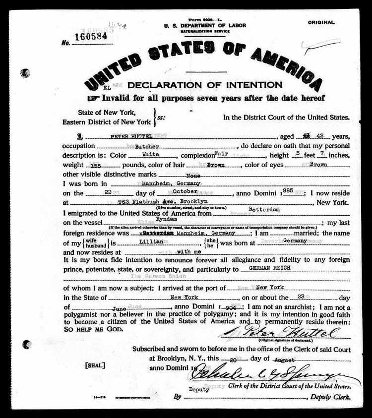 huttel naturalization
