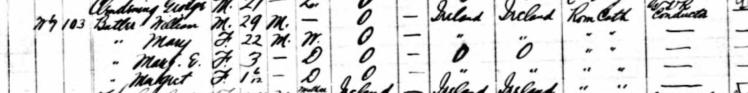 1891 Canada Census William Butler Census