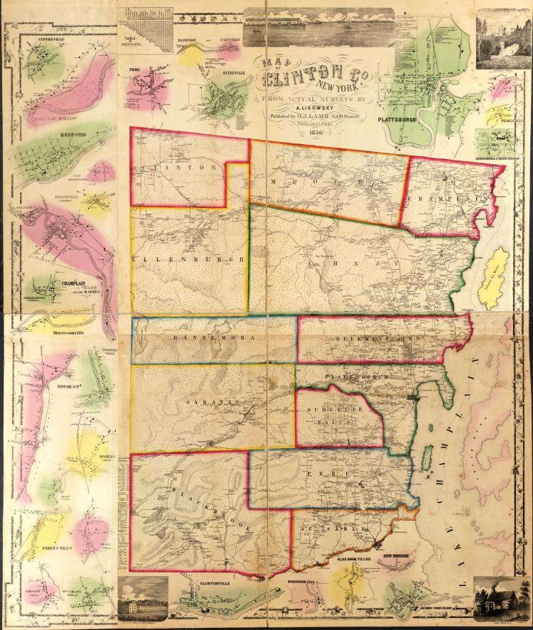 Clinton County Historical Map