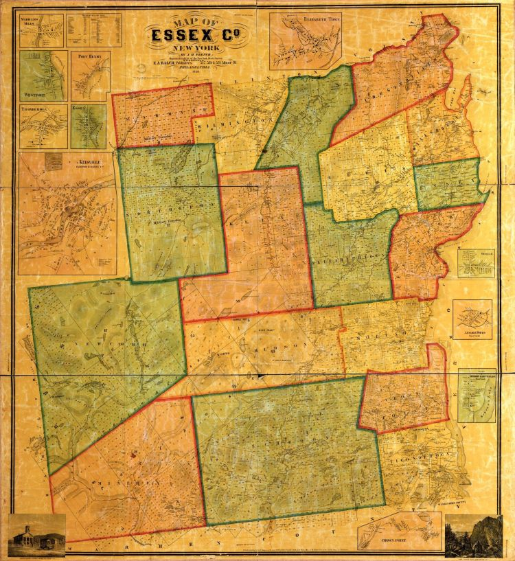 essex county NY historical map
