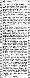 Ella Mayo Stewart Obituary Massena Observer
