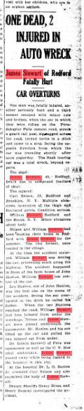james stewart car accident plattsburgh sentinel 1927